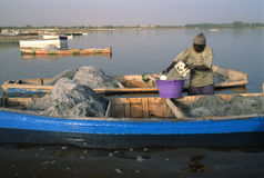 Rose lake - Senegal Royalty Free Stock Image