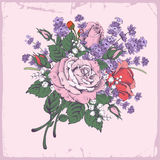 Rose and lavender Royalty Free Stock Photo