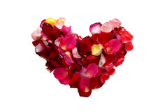 Rose-leaf heart Royalty Free Stock Image