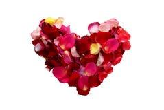 Rose-leaf heart Royalty Free Stock Image