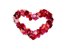 Rose-leaf heart Royalty Free Stock Images