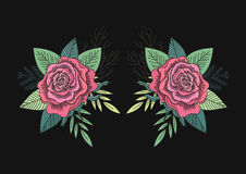 Rose and leafs vector Stock Photos