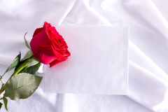 Rose and letter Royalty Free Stock Images