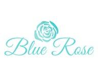 Rose Logo bleue Image stock