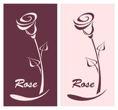 Rose for logotype something or style post card Stock Images