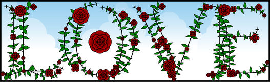 Rose Love sign Royalty Free Stock Photos