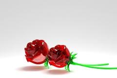 Rose lustrée Photographie stock
