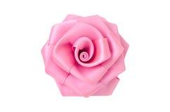 Rose machte vom Gewebe. Stockbilder