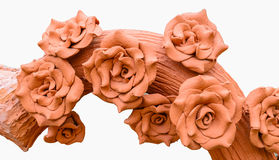 Rose made from clay Royalty Free Stock Photos
