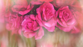 Rose made of cloth with blurred background Royalty Free Stock Photography