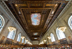 Rose main reading room and ceiling in New York Public Library, NYC Royalty Free Stock Photo
