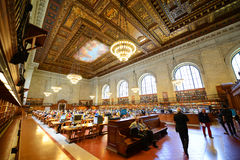 Rose Main Reading Room, New York Public Library Royalty Free Stock Photo