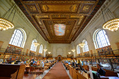 Rose Main Reading Room, New York Public Library Royalty Free Stock Image