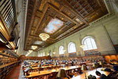 Rose Main Reading Room, New York Public Library Royalty Free Stock Images