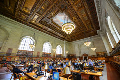 Rose Main Reading Room, New York Public Library Stock Images
