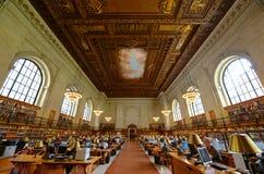 Rose Main Reading Room, New York Public Library Stock Photo