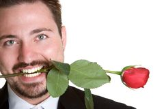 Rose Man Royalty Free Stock Image