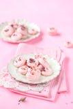 Rose Meringue Cookies Royalty Free Stock Photo