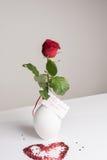 Rose mit Karte in deutschem FÃ-¼ r meinen Schatz Stockfotos