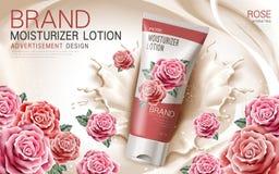 Rose moisturizer lotion Stock Image