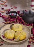 Rose moon cake traditional cake Royalty Free Stock Photography