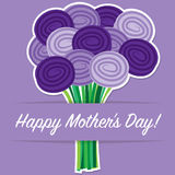 Rose Mothers Tageskarte Lizenzfreie Stockfotografie