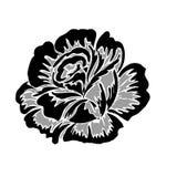 Rose motif design. On white background stock illustration