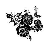 Rose motif design sketch. Rose motif design drawing sketch royalty free illustration