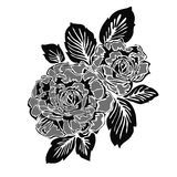 Rose motif pattern. Drawing sketch Vector Illustration