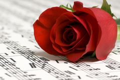 Rose Music 2. A complicated musical piece with a single rose on top. Representing the love of music, the simplicity of music and also the complexity