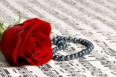 Rose Music 4 Stock Photos
