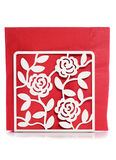 Rose napkin holder Royalty Free Stock Image