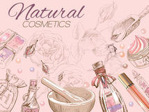 Rose natural cosmetic template. Stock Images