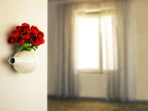 Rose in the nice vase, Royalty Free Stock Photography