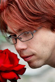 A rose and a nose Royalty Free Stock Images