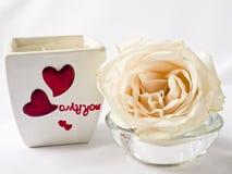Rose och stearinljus Royaltyfri Bild
