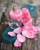 Rose oil Stock Photos