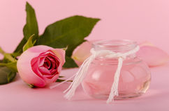 Rose oil for aromatherapy Stock Photos