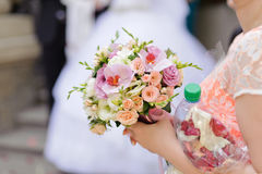Rose and Orchid Bouquet Stock Photo