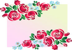 Rose ornament. Vector illustration Royalty Free Stock Image