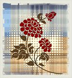 Rose over halftone background Royalty Free Stock Images