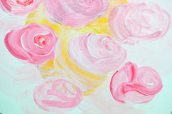 Rose paint Royalty Free Stock Image