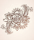 Rose painted with henna Stock Photography