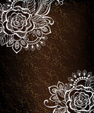 Rose painted white henna Royalty Free Stock Photos
