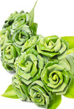 Rose Of Pandan Leaf. Royalty Free Stock Photography