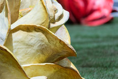 The rose of paper mache Stock Image