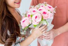 Rose para el día de tarjetas del día de San Valentín Imagen de archivo