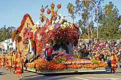 Rose Parade Cradle of Civilization Float. An image of the Cradle of Civilization Float from the 2015 Rose Parade.  Winner of the President's Award Stock Photography