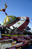 Rose Parade float with UFO Stock Image