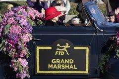 Rose Parade Grand Marshal royalty-vrije stock fotografie